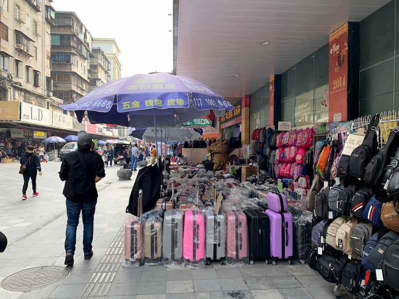 中国広州三元里バッグ市場