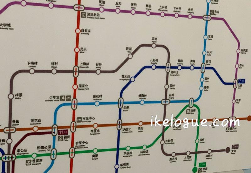 深セン地下鉄路線図